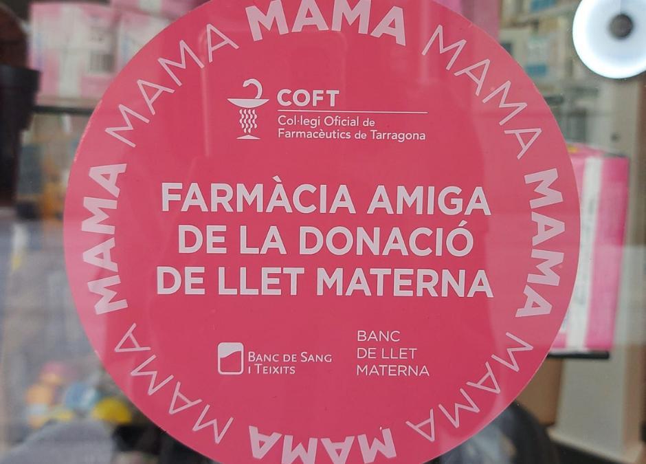 ¡Somos farmacia amiga de la donación de leche materna!